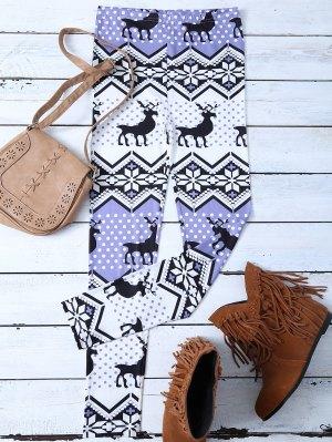 Snowflake Reindeer Leggings