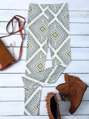 Argyle Patterned Stretchy Leggings