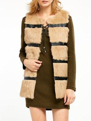 Rabbit Hair Waistcoat - Camel