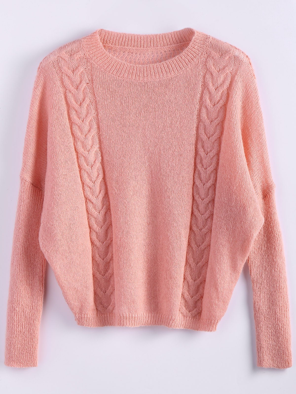 Cable Knit Batwing Sleeve Jumper