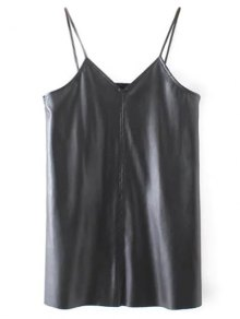 PU Leather Cami Mini Dress