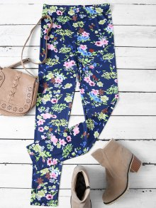 Tiny Floral Pattern Leggings - Floral