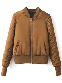 Stand Neck Quilted Jacket - Ginger M