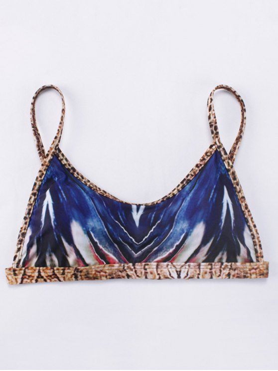Printed Tie-Dyed Bikini Set - BLUE S Mobile