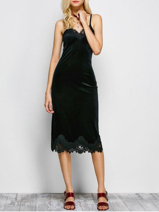 outfit Cami Midi Bodycon Party Dress - BLACK S