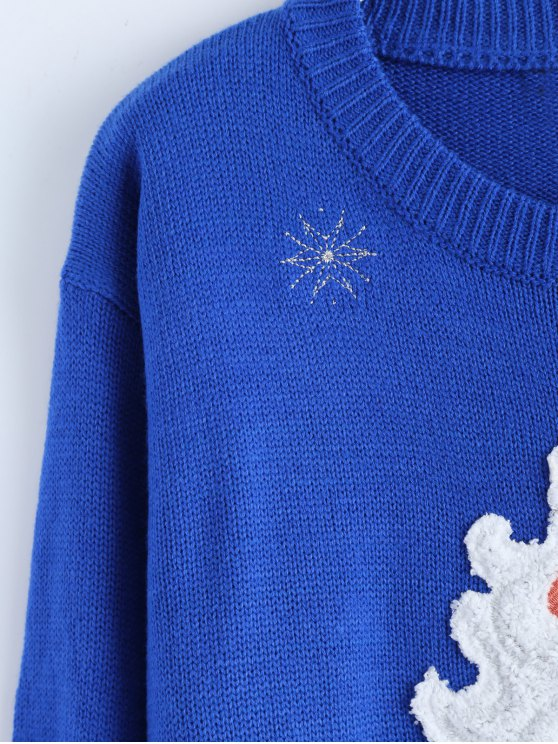 Santa Clause Christmas Sweater - BLUE ONE SIZE Mobile