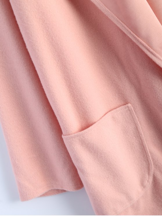 Cotton Open Front Coat - PINK S Mobile