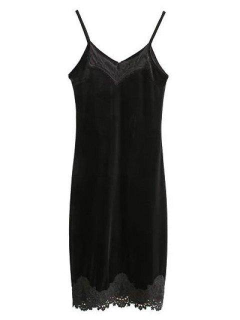 outfit Cami Midi Bodycon Party Dress - BLACK S Mobile
