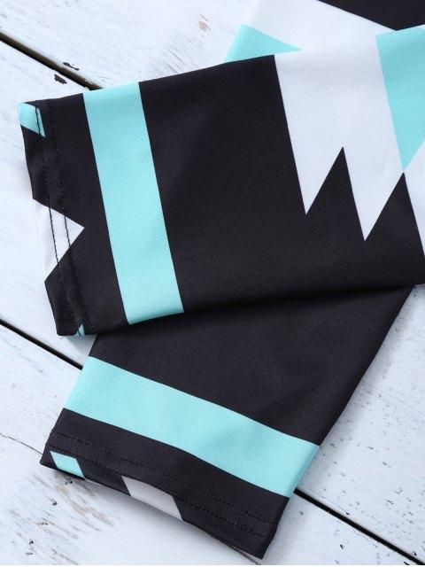 online Skinny Geometric Patterned Legging - BLACK M Mobile