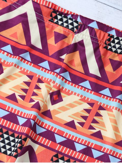 ladies Geometric Patterned Leggings - COLORMIX M Mobile