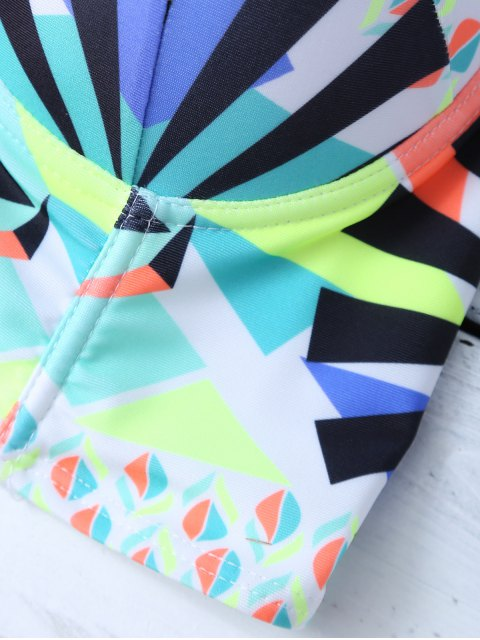 trendy Ethnic Style Geometric Bikini Set - COLORMIX L Mobile