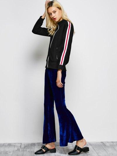 Velvet Flare Pants - BLUE M Mobile