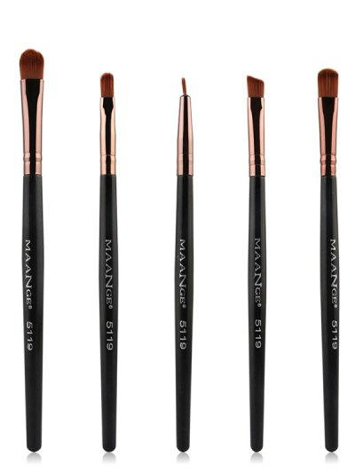 Nylon Eye Makeup Brushes Set - BLACK  Mobile