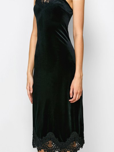 Cami Lace Panel Dress - BLACK M Mobile