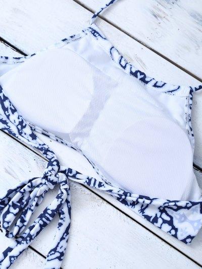 Cross Criss Halter Bikini Set - COLORMIX S Mobile