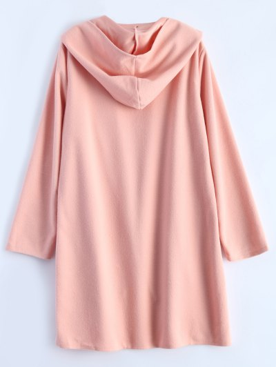 Cotton Open Front Coat - PINK S Mobile