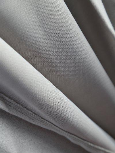 Cotton Open Front Coat - LIGHT GRAY S Mobile