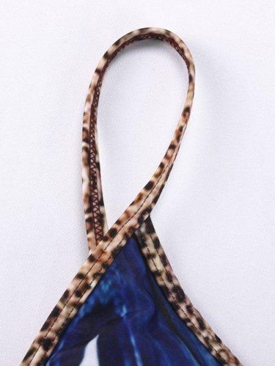 Printed Tie-Dyed Bikini Set - BLUE M Mobile
