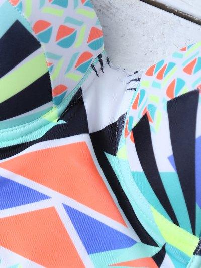 Ethnic Style Geometric Bikini Set - COLORMIX L Mobile