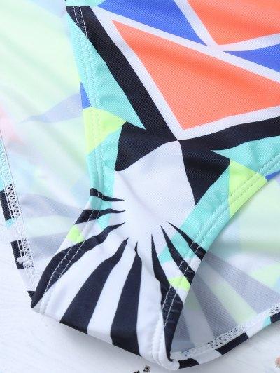 Ethnic Style Geometric Bikini Set - COLORMIX M Mobile