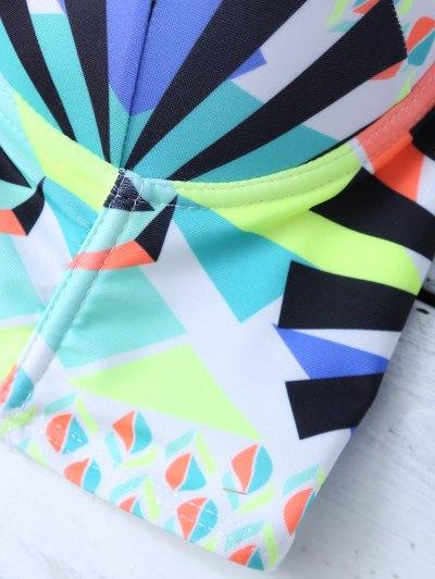 Ethnic Style Geometric Bikini Set - COLORMIX S Mobile