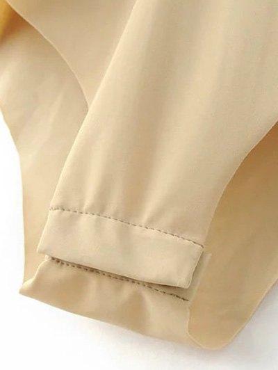 Velour Wrap Bodysuit - KHAKI S Mobile