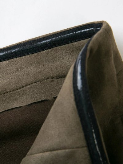 High Rise Suede Pants with Tube Top - ARMY GREEN M Mobile