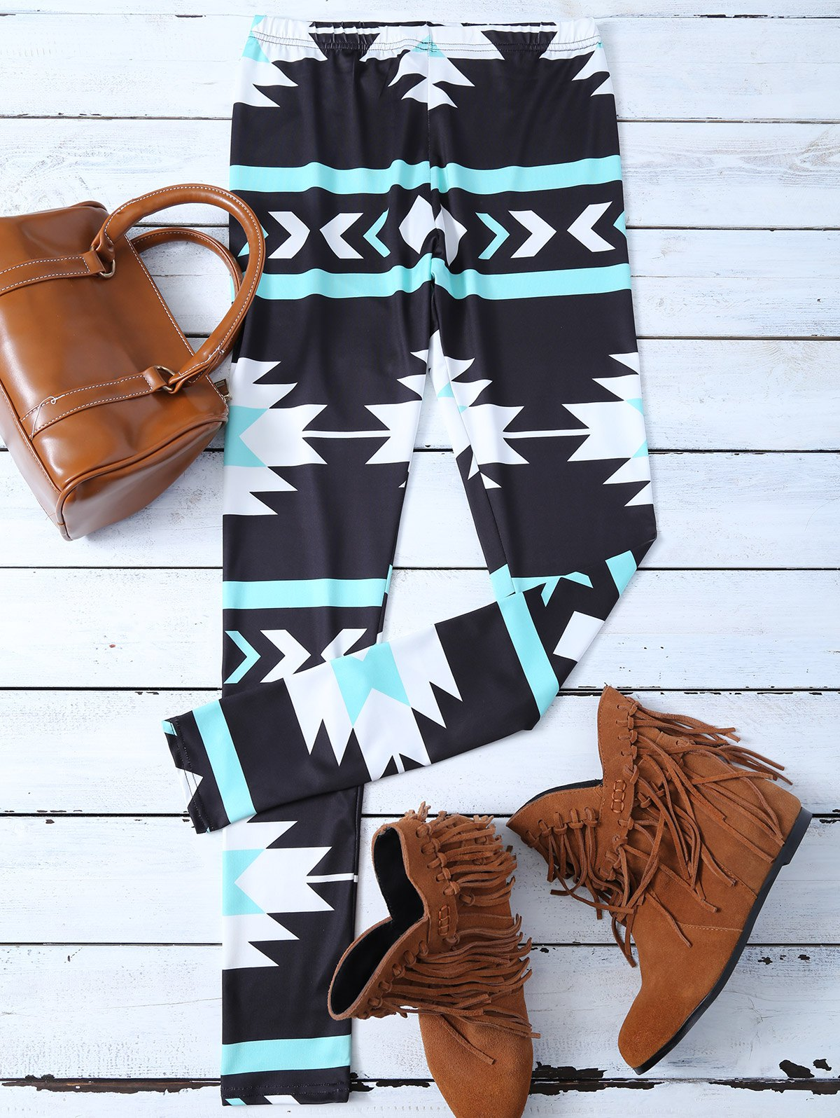 Geometric Patterned Skinny Leggings