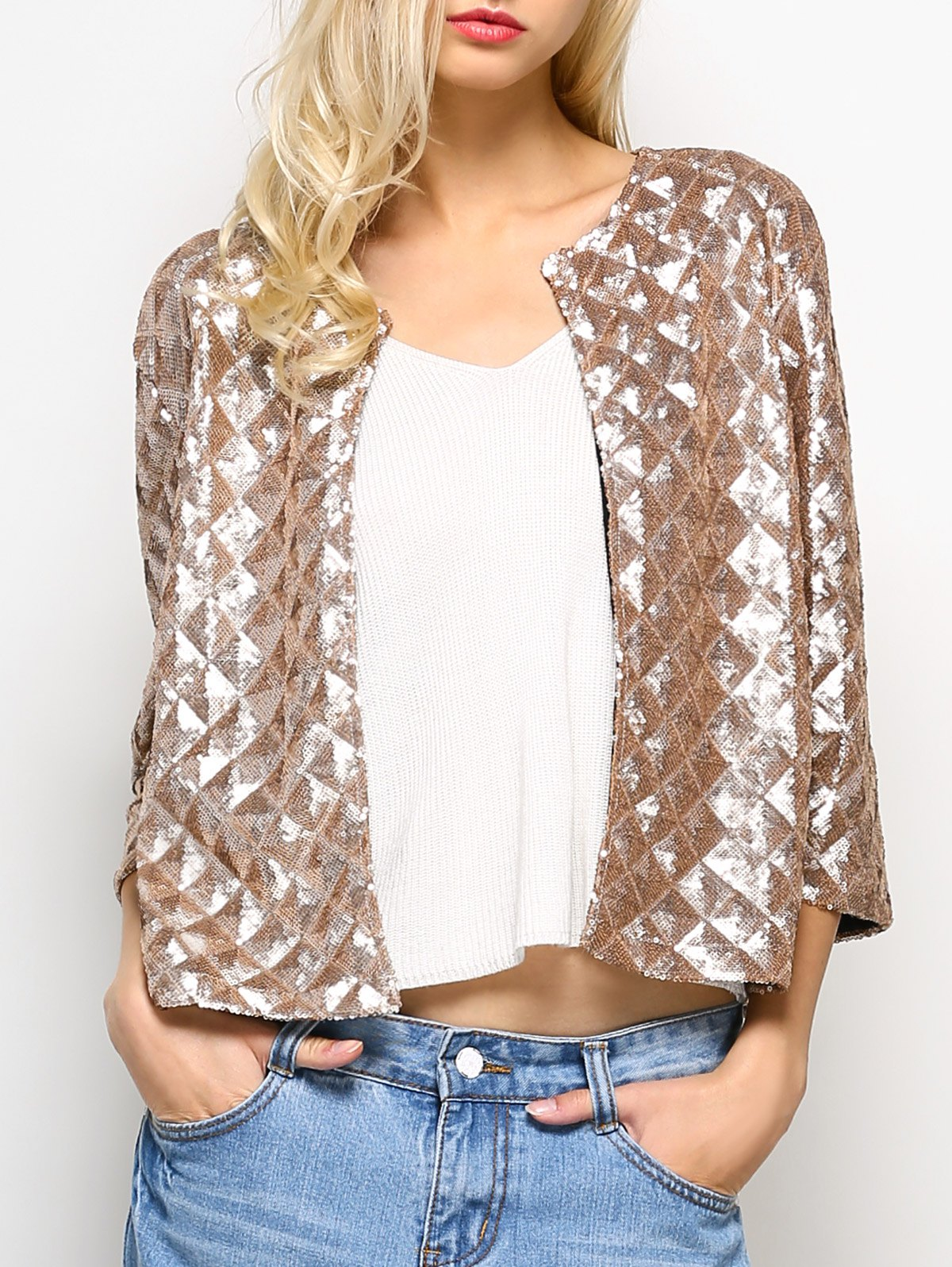 Open Front Sequined Jacket