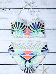 Estilo étnico geométrico del modelo del bikini