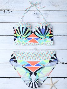 Ethnic Style Geometric Bikini Set