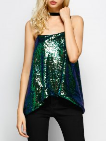 Loose Sequined Tank Top