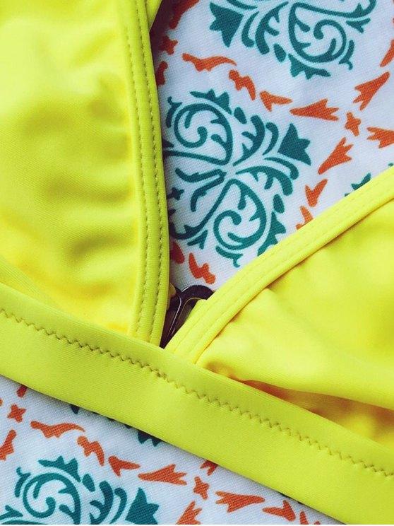 Tiny Unlined String Bikini Swimwear - YELLOW S Mobile