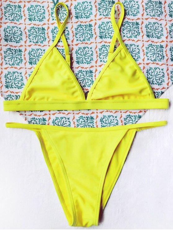 Sin forro pequeña secuencia del Bikini - Amarillo S