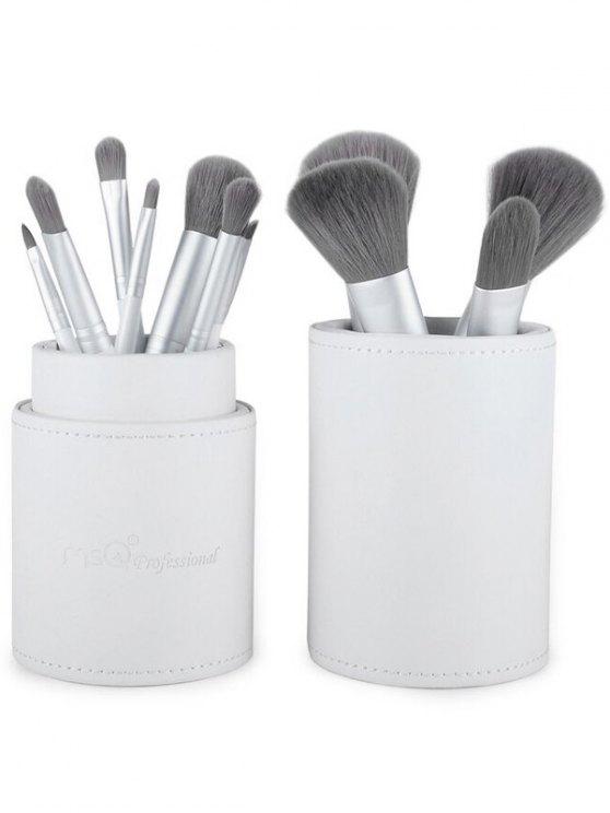 Makeup Brushes Kit + Makeup Sponge + Brush Egg - WHITE  Mobile