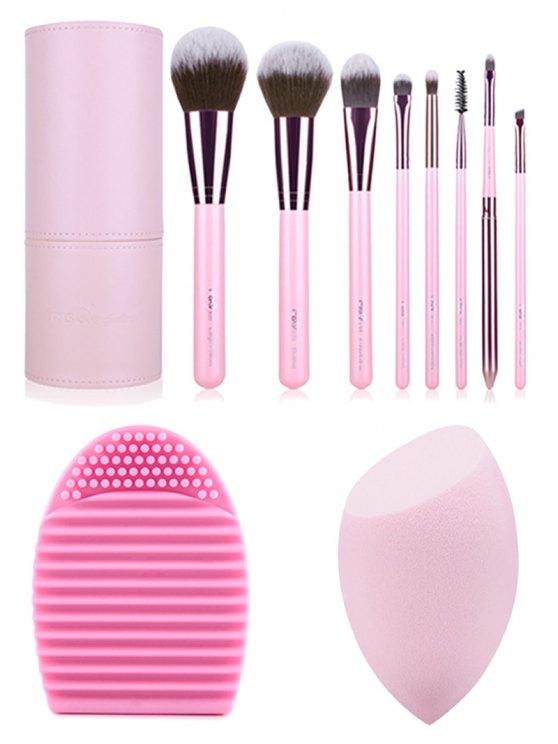 Makeup Brushes Kit + Brush Egg + Beauty Blender - PINK  Mobile