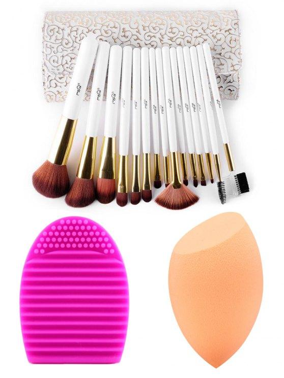Cepillos del maquillaje del kit + Beauty Blender + Huevo del cepillo - Colormix
