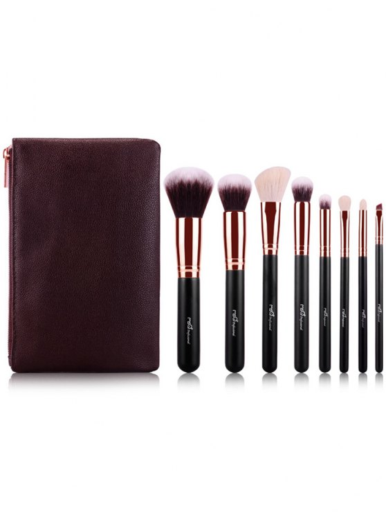 Makeup Brushes Kit and BB Cream Puff - ROSE GOLD  Mobile
