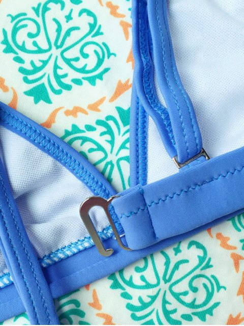 new Tiny Unlined String Bikini Swimwear - BLUE M Mobile