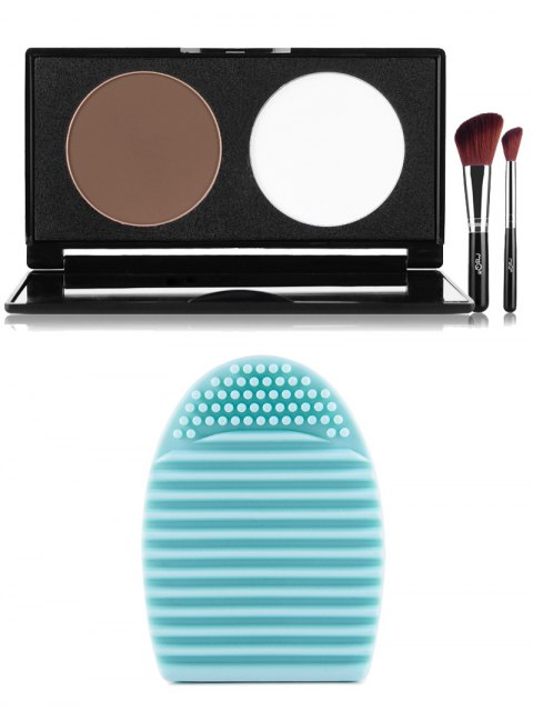 buy Pressed Powder Kit and Brush Egg -   Mobile