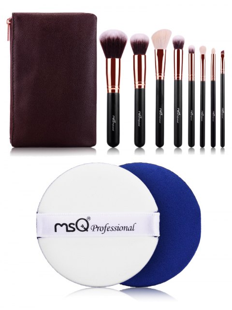 trendy Makeup Brushes Kit and BB Cream Puff - ROSE GOLD  Mobile