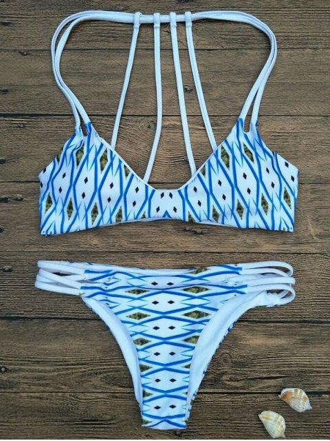 lady Argyle Padded Strappy Bikini - BLUE M Mobile