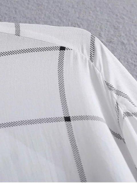 shop One Breast Pocket Plaid Shirt - WHITE L Mobile