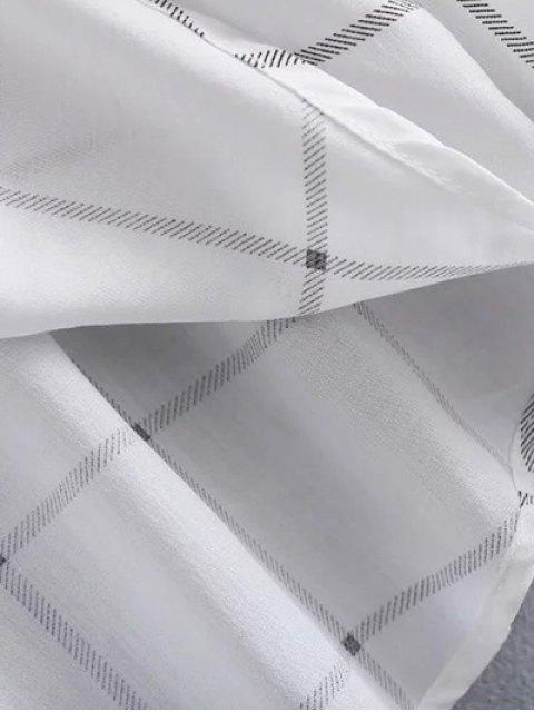 shops One Breast Pocket Plaid Shirt - WHITE M Mobile