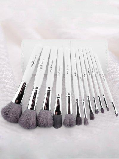 Makeup Brushes Kit + Beauty Blender + Brush Egg - WHITE  Mobile