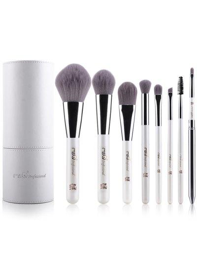 Makeup Brushes Kit + Brush Egg + Beauty Blender - WHITE  Mobile