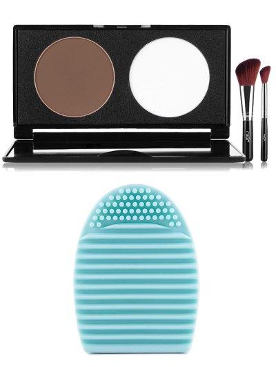 Pressed Powder Kit and Brush Egg - BLACK  Mobile