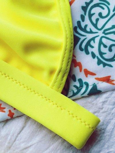 Tiny Unlined String Bikini Set - YELLOW M Mobile