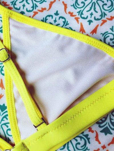 Tiny Unlined String Bikini Set - YELLOW S Mobile