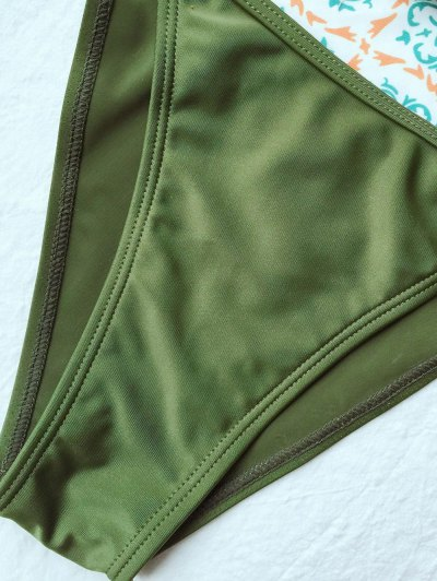 Tiny Unlined String Bikini Set - ARMY GREEN M Mobile
